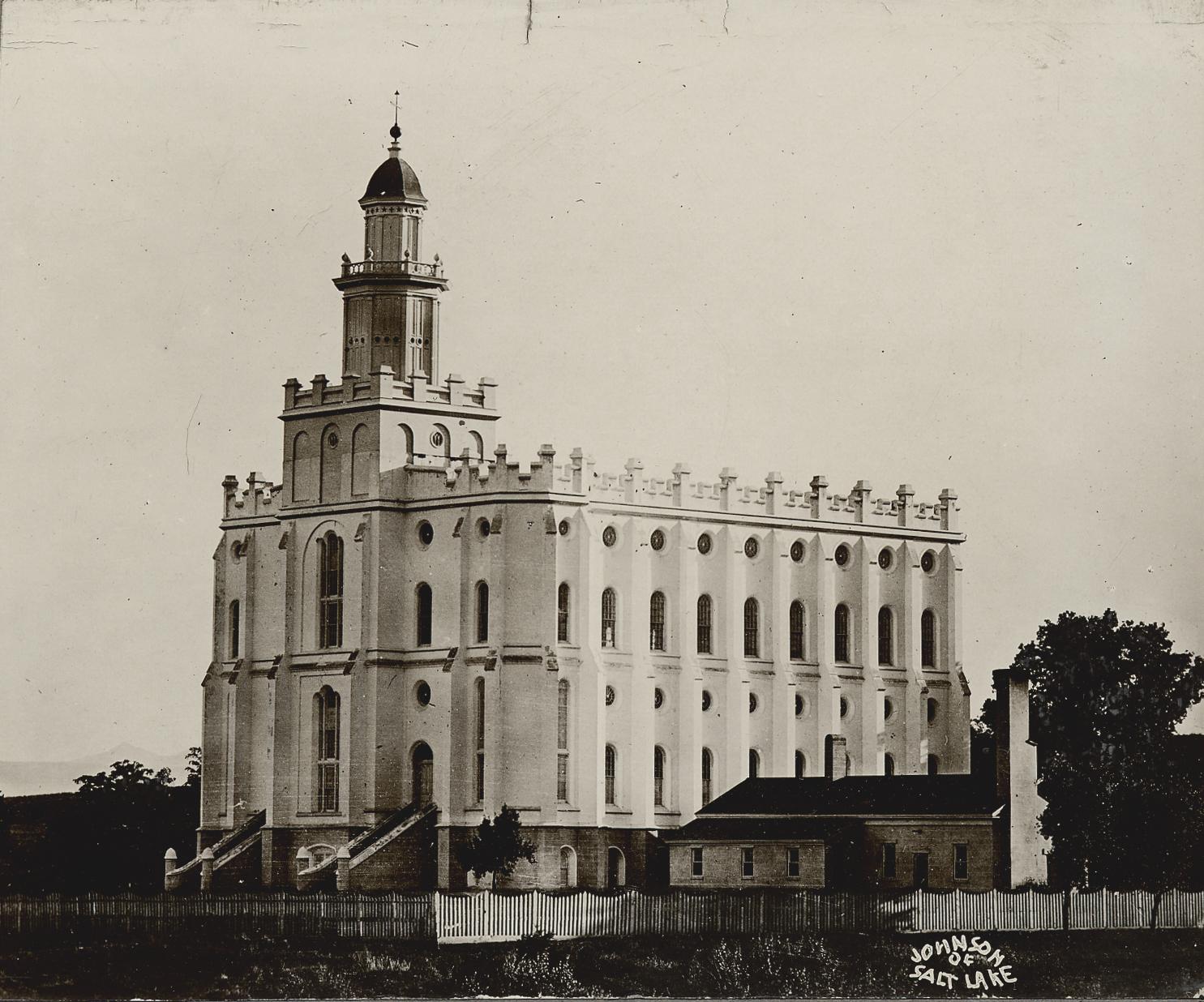The St. George Utah Temple circa 1900.