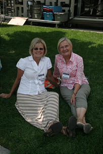 Vivki Larsen, from Sandy, Utah, and her sister, Connie Conlee, from Orem, Utah, take a break during education week. More than 20,000 participants from around the world gather to the BYU campus for Education week Aug. 13-17, 2012.