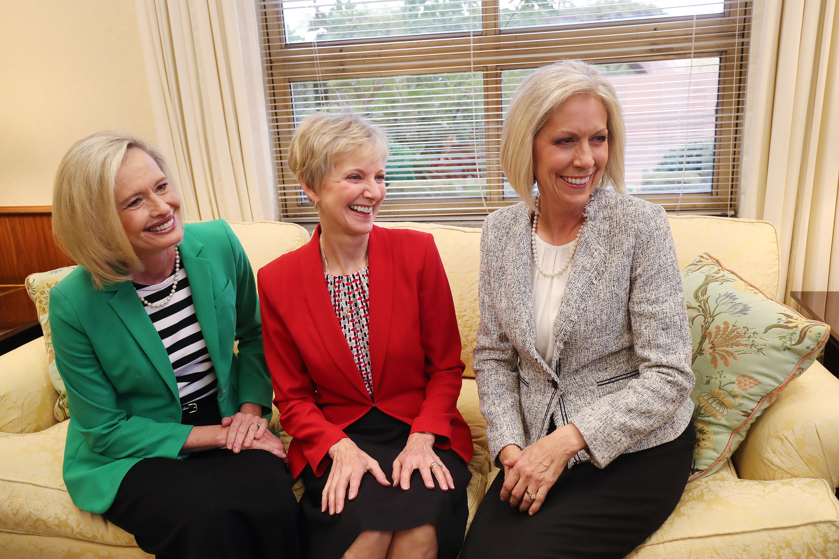 Sister Jean B. Bingham, Relief Society general president, Sister Bonnie H. Cordon, Young Women general president and Sister Joy D. Jones, Primary general president meet in Salt Lake City on Sept 4, 2018. They will answer questions in the first ever Sister-to-Sister event held on May 3, 2019.