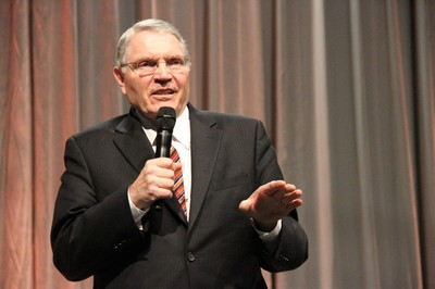 Elder Paul E. Koelliker of the Seventy speaks at RootsTech 2013.