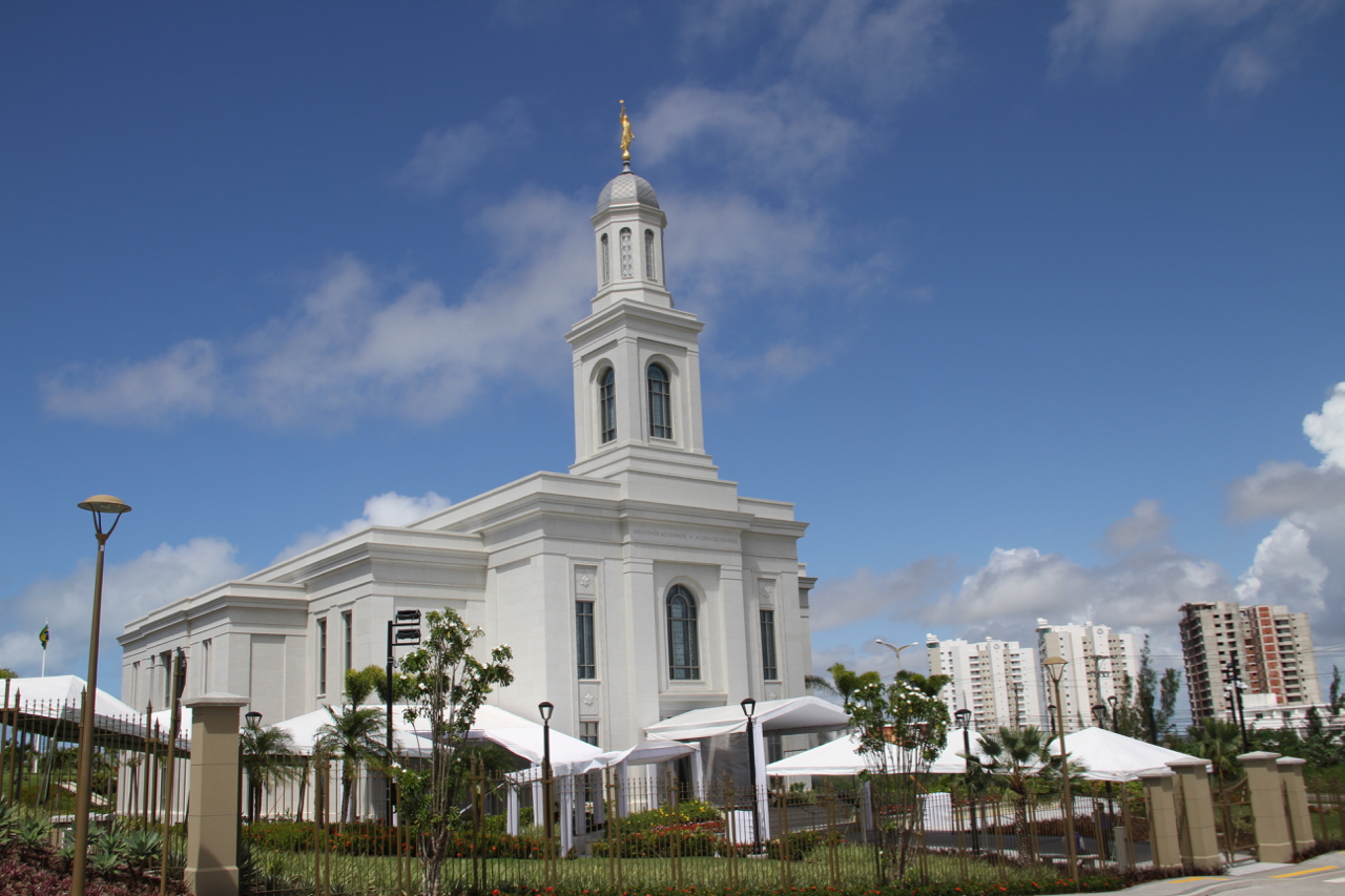 The Brazil Fortaleza Temple, photographed June 1, 2019, a day before its dedication.