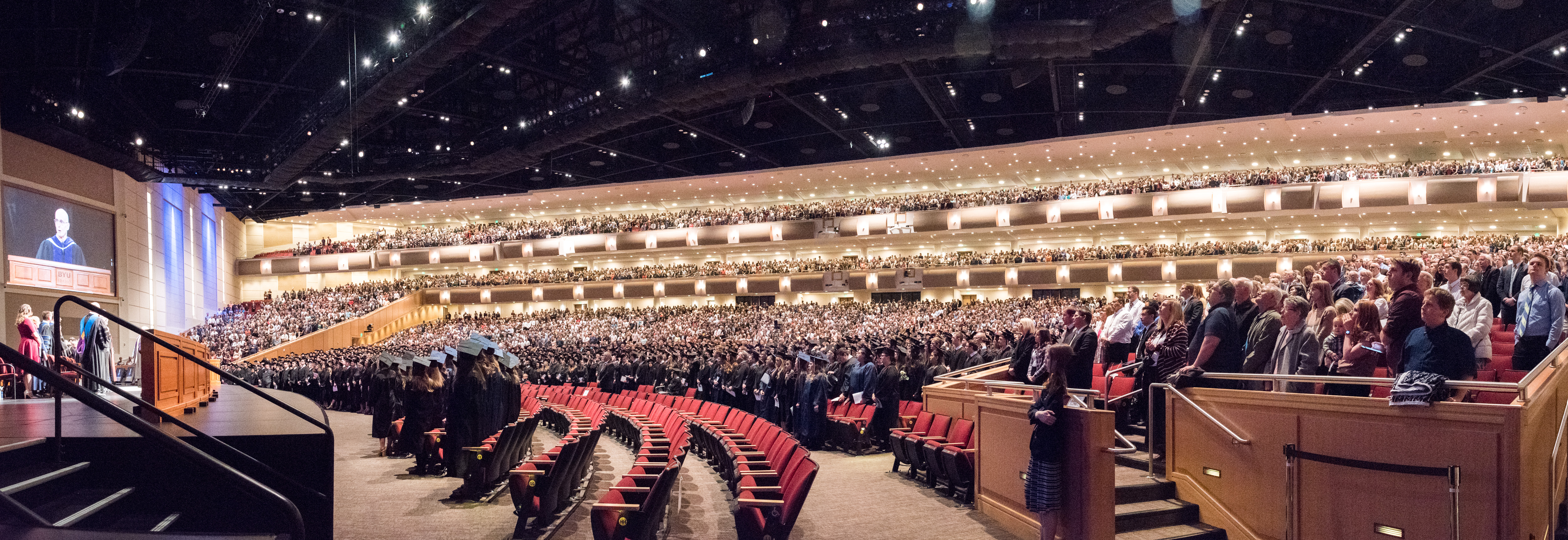 Winter Commencement Service at the BYU-Idaho Center on April 12, 2019.