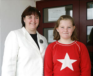 Young Women president Annie MacDonald's sole young woman is Hannah Nelson, 12.