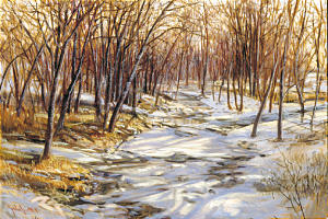 """Frank Magleby painted """"Joseph's Creek"""" in 2002."""