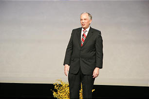 Elder Neil L. Andersen addresses devotional congregation for Youth Family Discovery Day at RootsTech 2014.