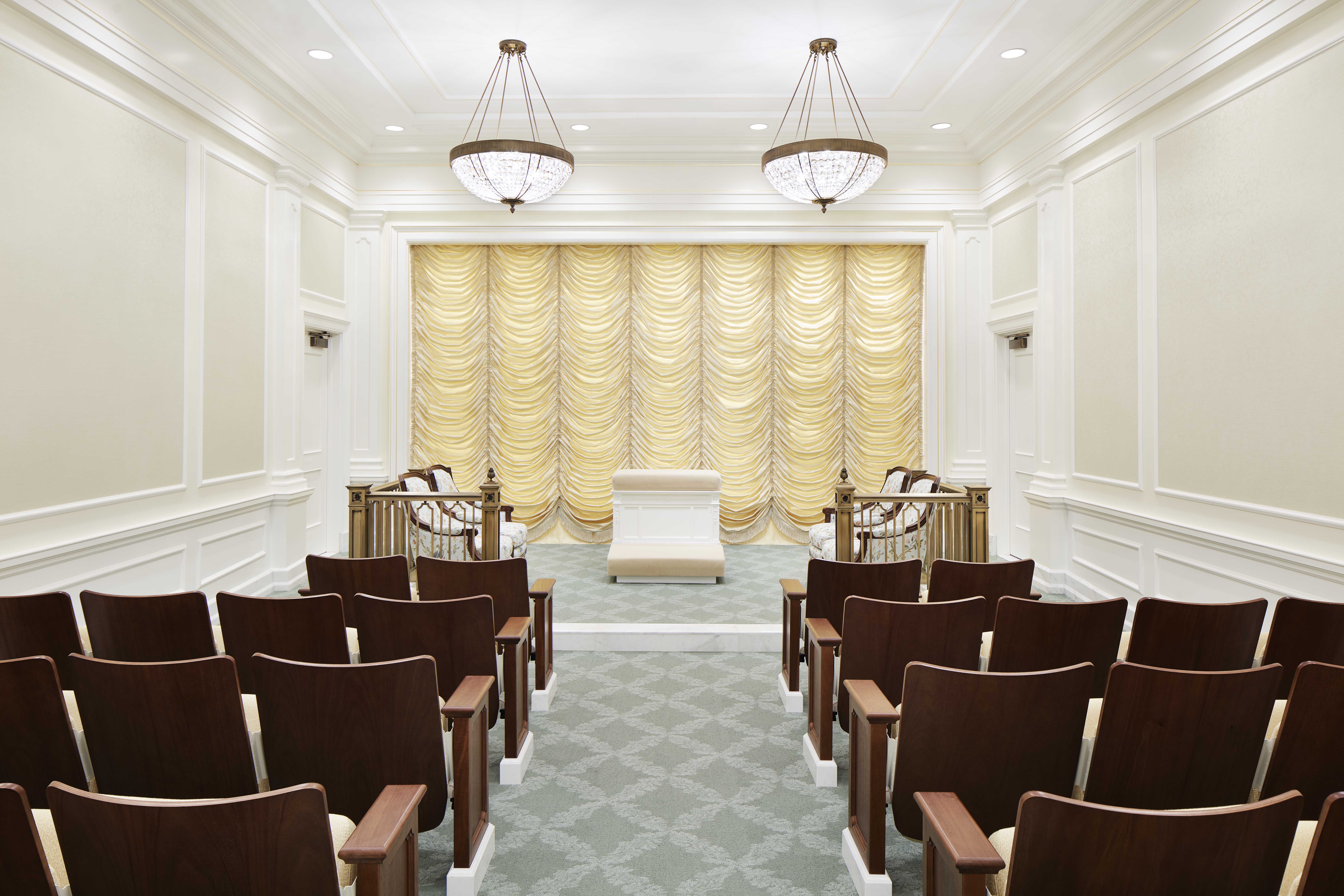 An instruction room in the Memphis Tennessee Temple.