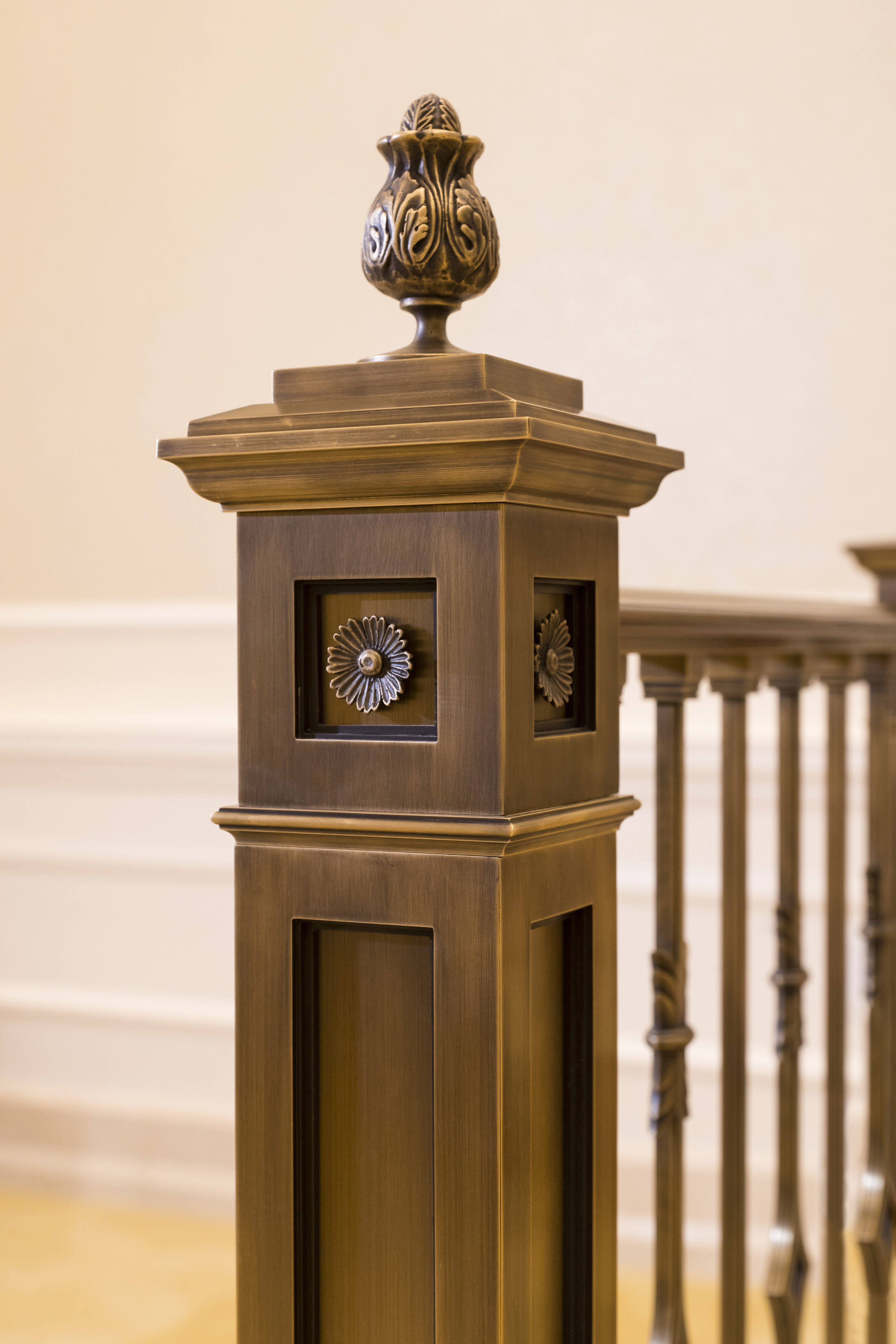 Artistic detail is displayed in various places throughout the Oklahoma City Oklahoma Temple.