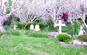 A rural cemetery in Vanuatu. Church membership in Vanuata is about 2,000, or 1 percent of nation's 200,000 people.