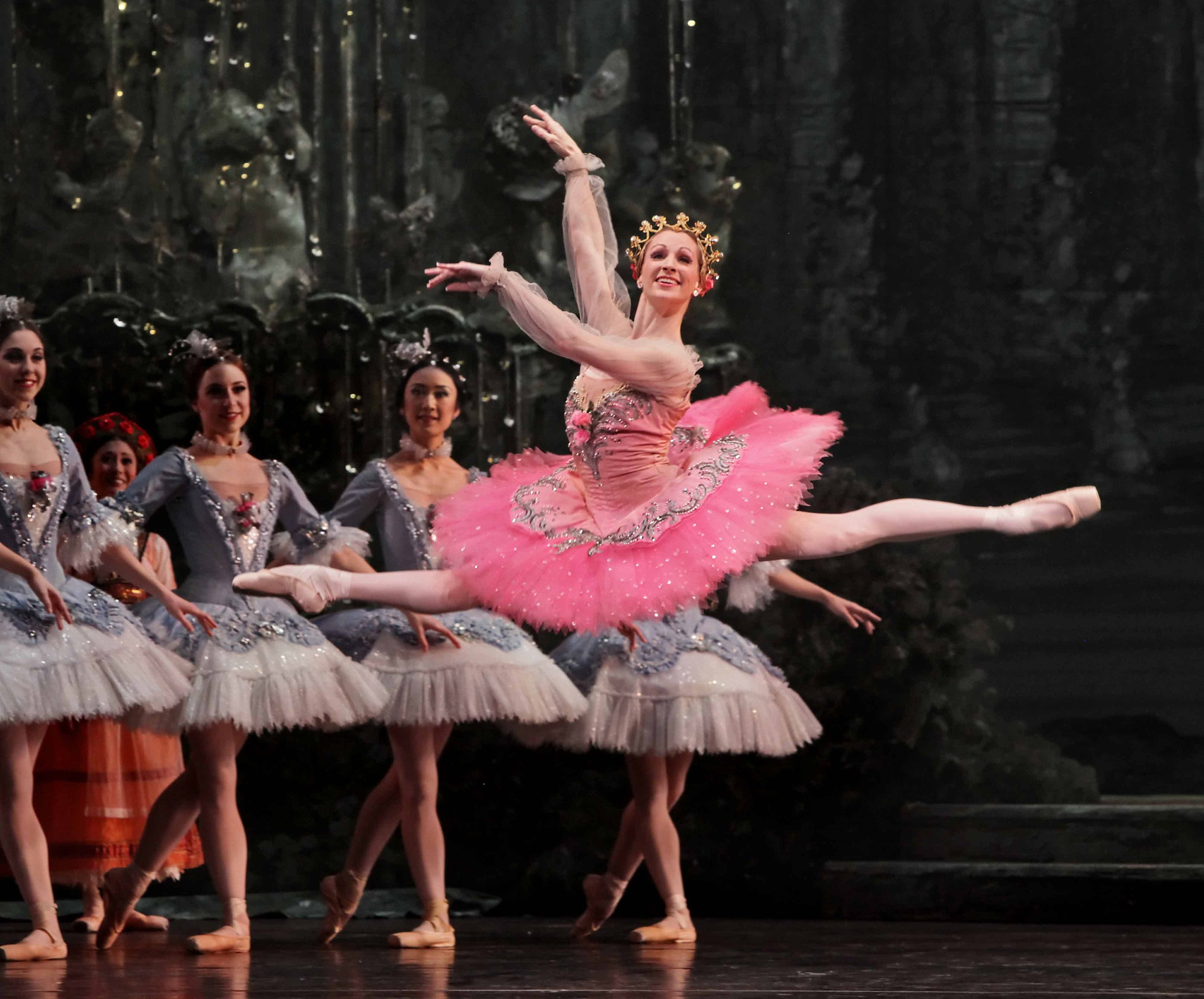 Sara Webb Bardo, performing as the principal ballerina in Swan Lake, at the Houston Ballet.