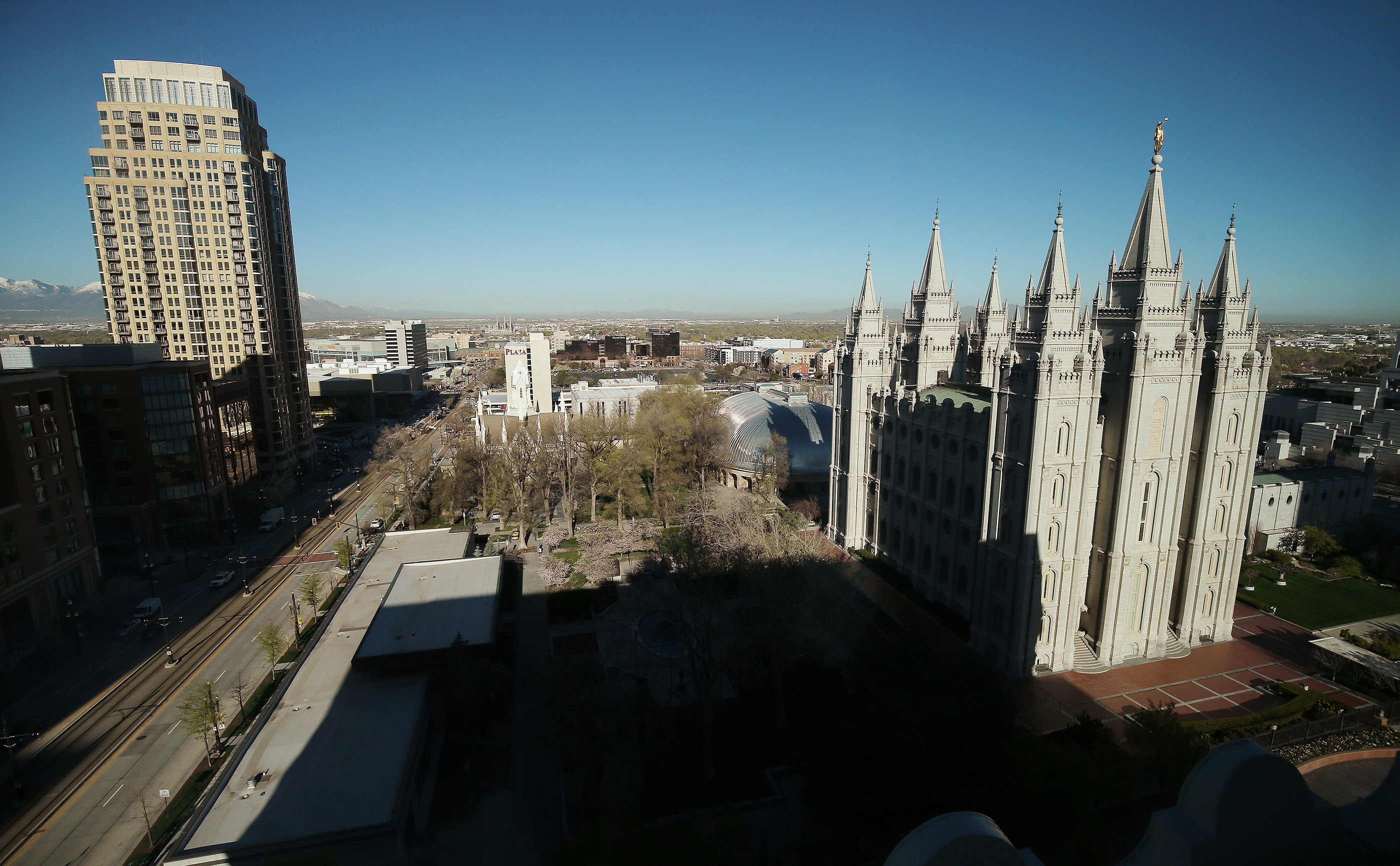The Salt Lake Temple in Salt Lake City on Friday, April 19, 2019. Church officials announced renovations and changes to it and the grounds.