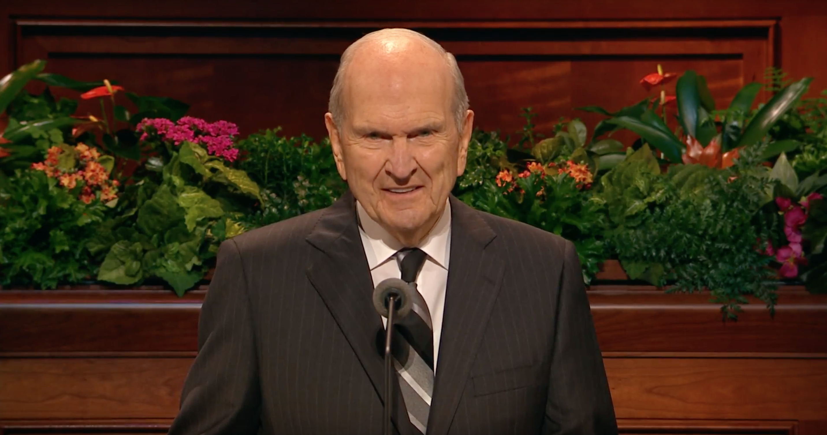 President Russell M. Nelson speaks during October 2018 general conference.