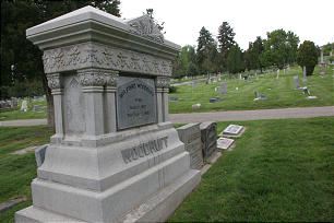 President Wilford Woodruff's grave site at the Salt Lake City Cemetery. The graves of nine late Church presidents and dozens of other prominent Church leaders and members can be found at the peaceful and historic cemetery.