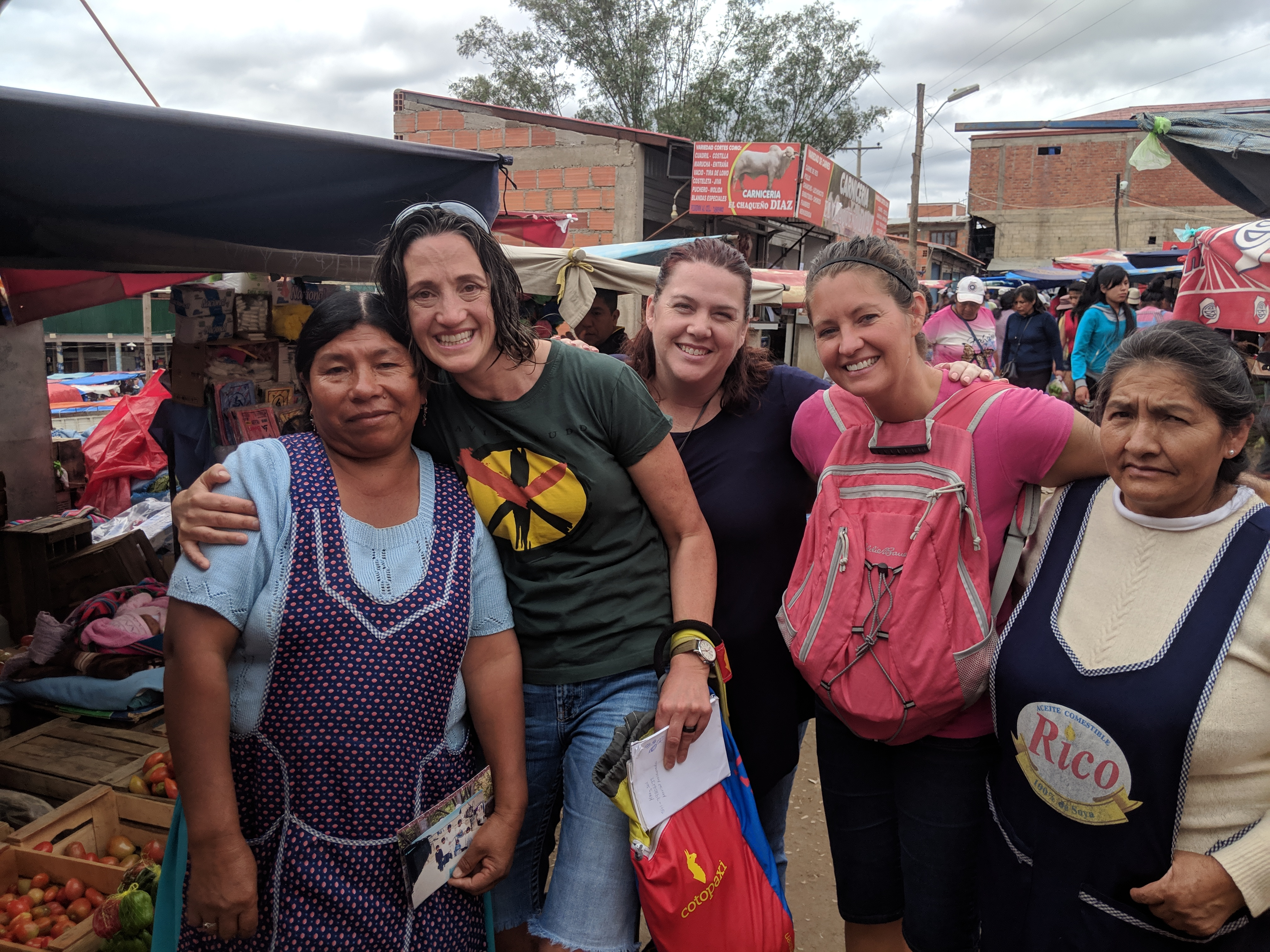 From left: Celia Quispe, Tavia Mathers, Kristen Bartholomew, Ginny Watts, and another member that works in the El Campecino market.