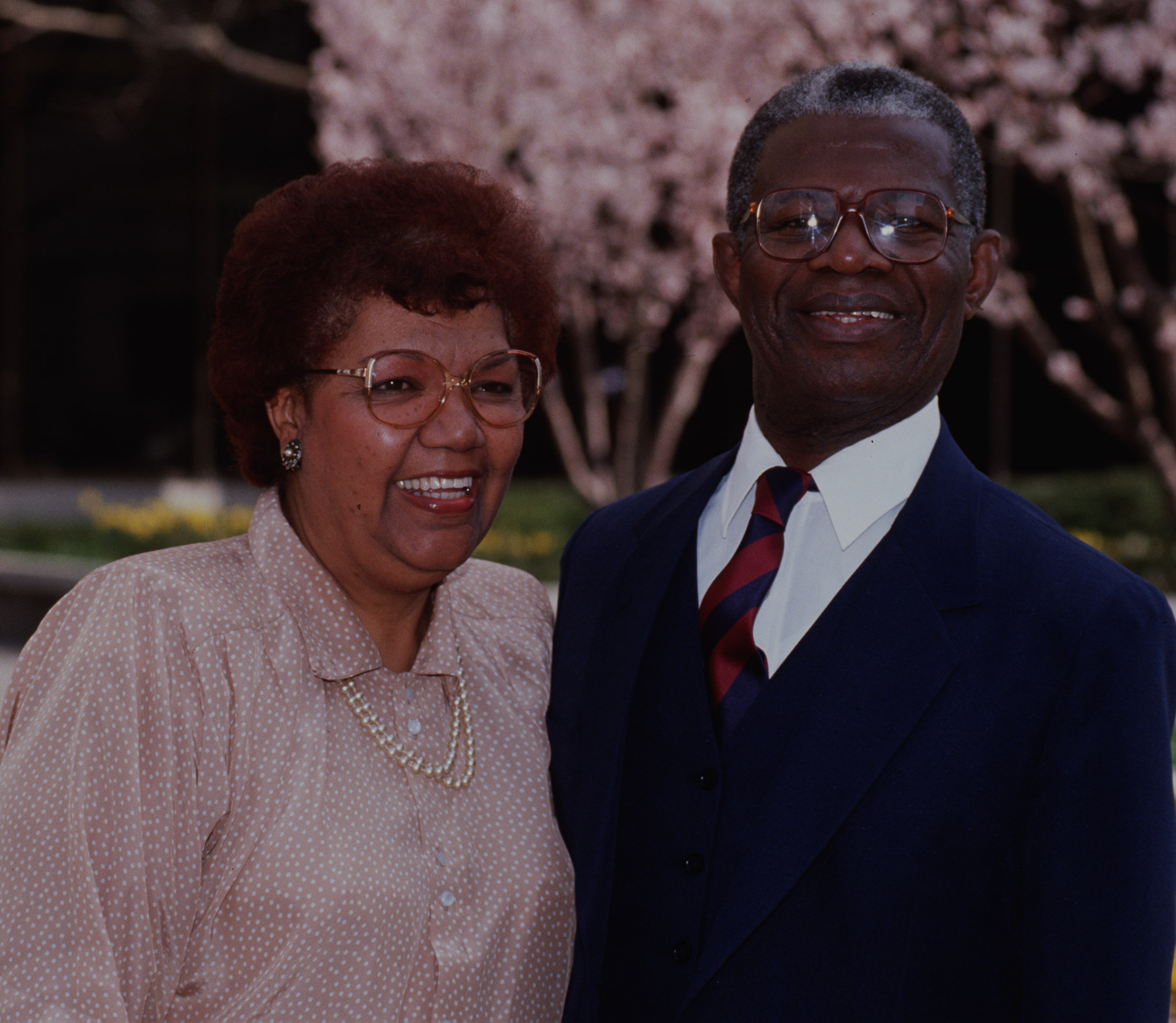 Elder Helvécio Martins and his wife, Rudá Martins, in 1990 when he was called to Second Quorum of the Seventy.