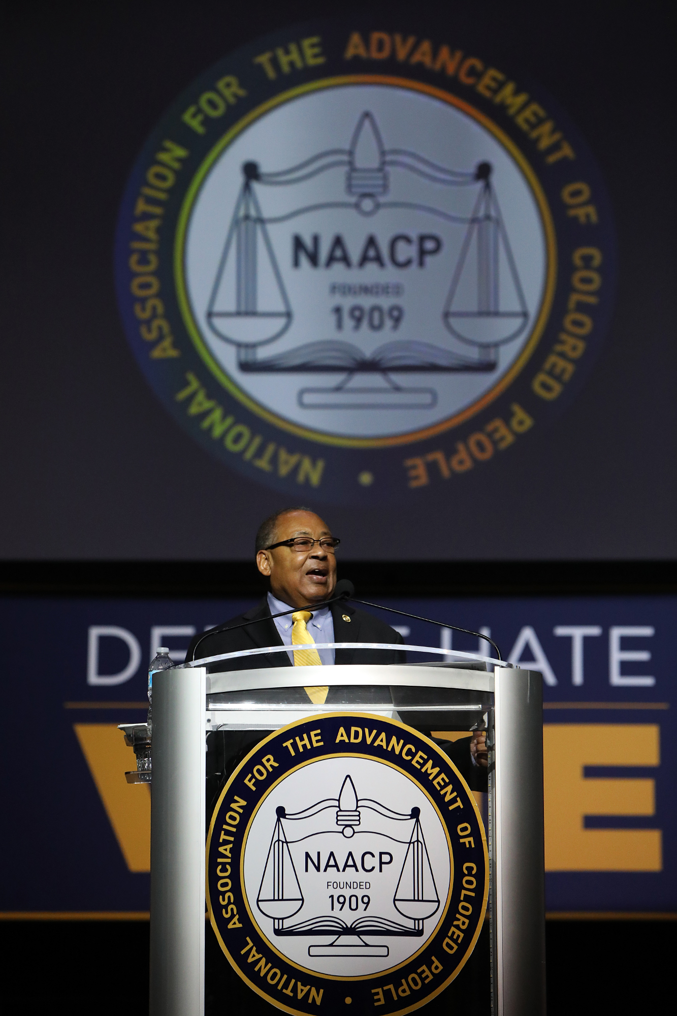 Leon W. Russell, chairman of NAACP national board of directors, speaks during the 109th NAACP Annual Convention at the Henry B. González Convention Center in San Antonio on Sunday, July 15, 2018.