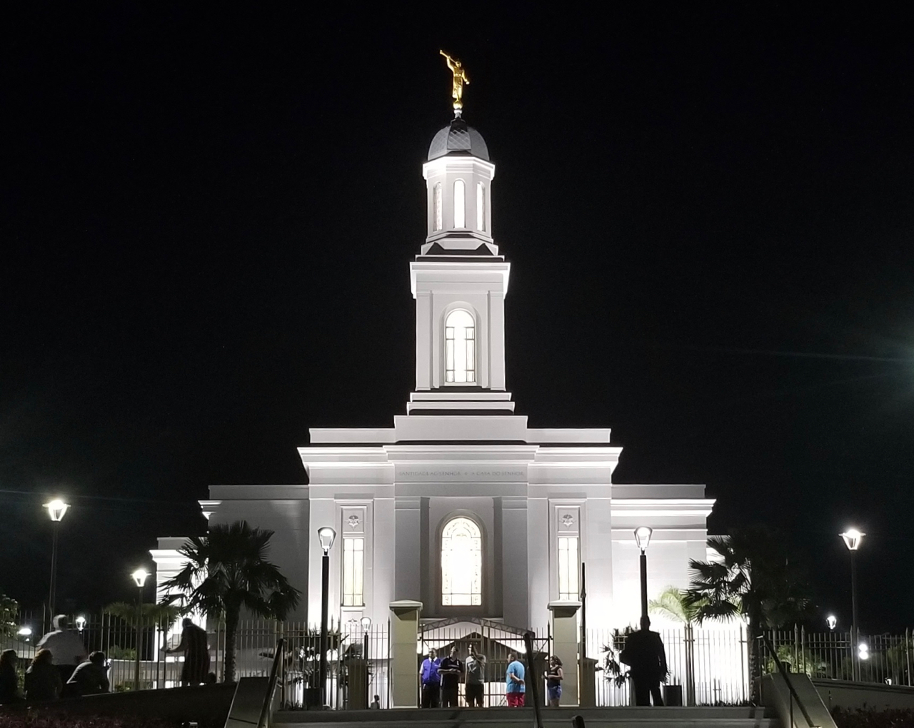 The Brazil Fortaleza Temple, photographed June 1, 2019, the evening before its dedication.