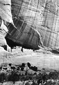 Landscape photos such as Timothy H. O'Sullivan's 1873 image of ancient ruins in canyon De Chelly gave 19th century viewers a romantic glimpse of the Western frontier.