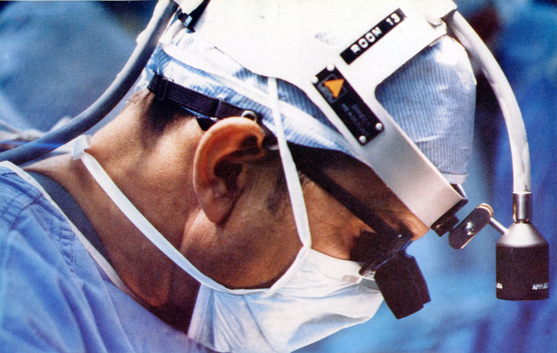 Dr. Russell M. Nelson during an operation.