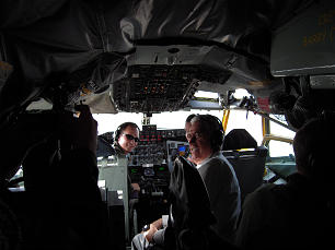 President Dieter F. Uchtdorf aboard a KC-135 flying with the Utah Air National Guard.