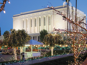 Holiday visitors to the Mesa Arizona Temple gardens have enjoyed the thousands of lights each Christmas season for 25 years.
