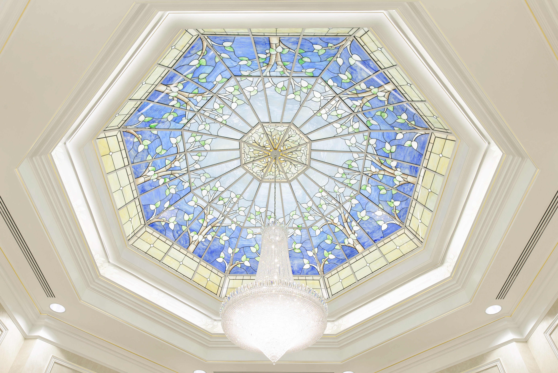 A skylight in the celestial room of the Boise Idaho Temple.