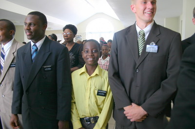 Members and missionaries at the conference.