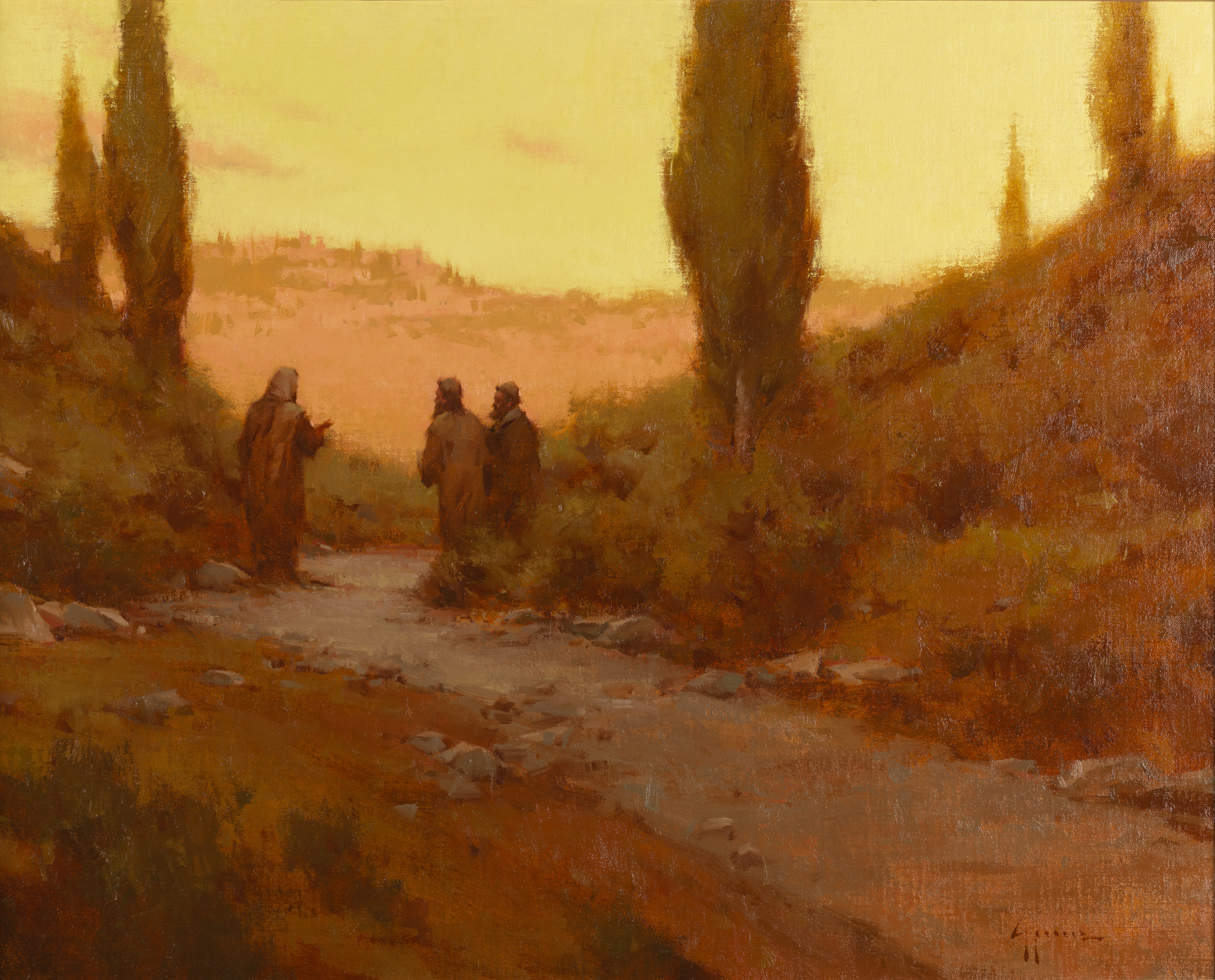 Oil painting depicting a moment from the life of the Savior is on display at the 11th International Art Competition.