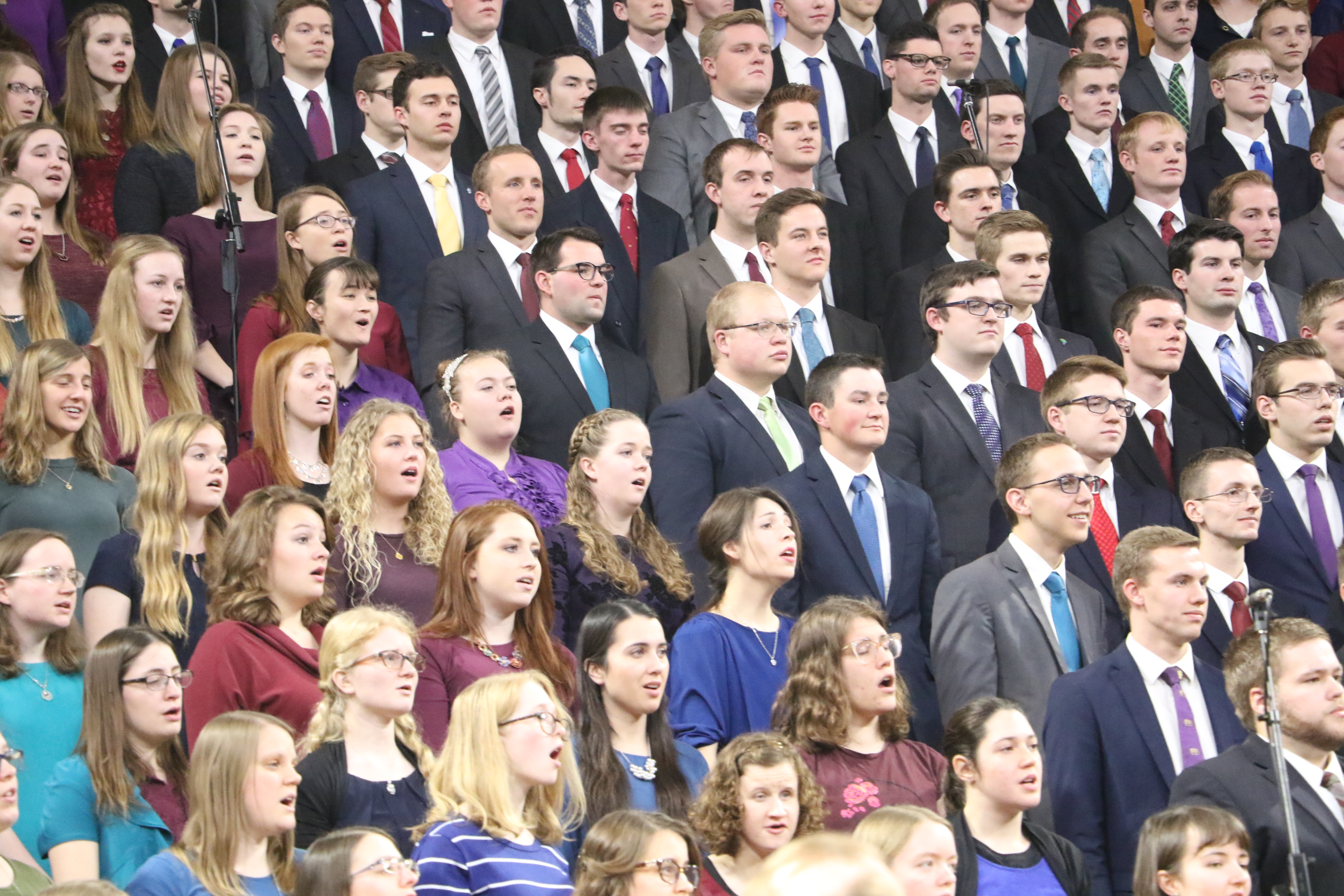 Choir performs at the Joseph Smith Memorial Devotional, sponsored by the Logan, Utah, institute on Jan. 27, 2019.