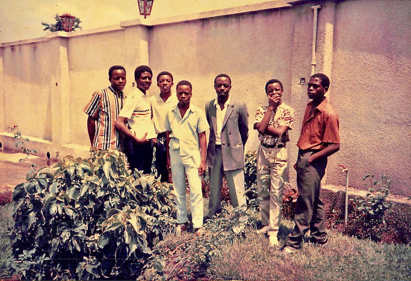 Young men of Liméte Banch in late 1987 in Zaire (now the Democratic Republic of the Congo).
