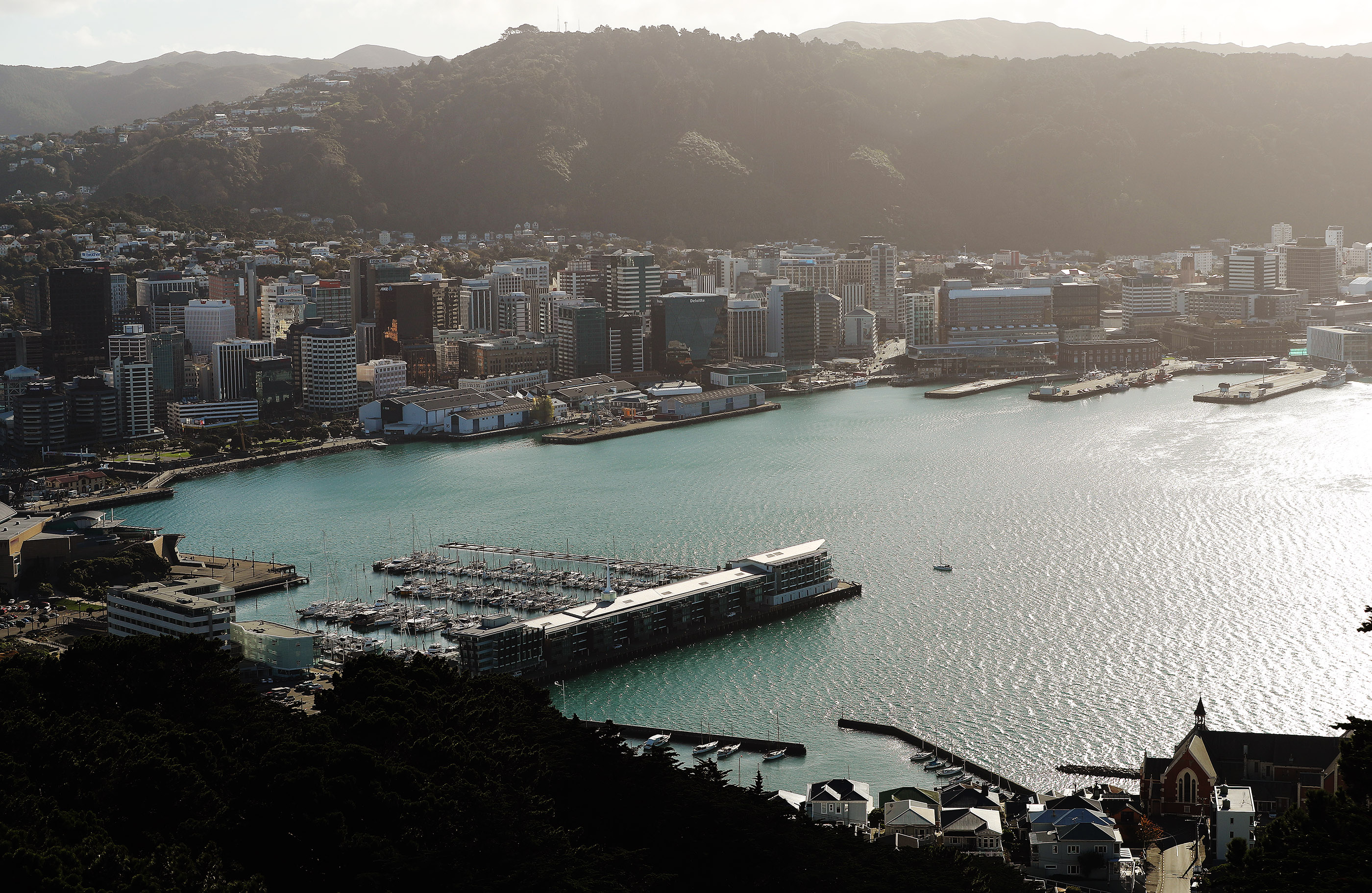 The harbour in Wellington, New Zealand on Sunday, May 19, 2019.