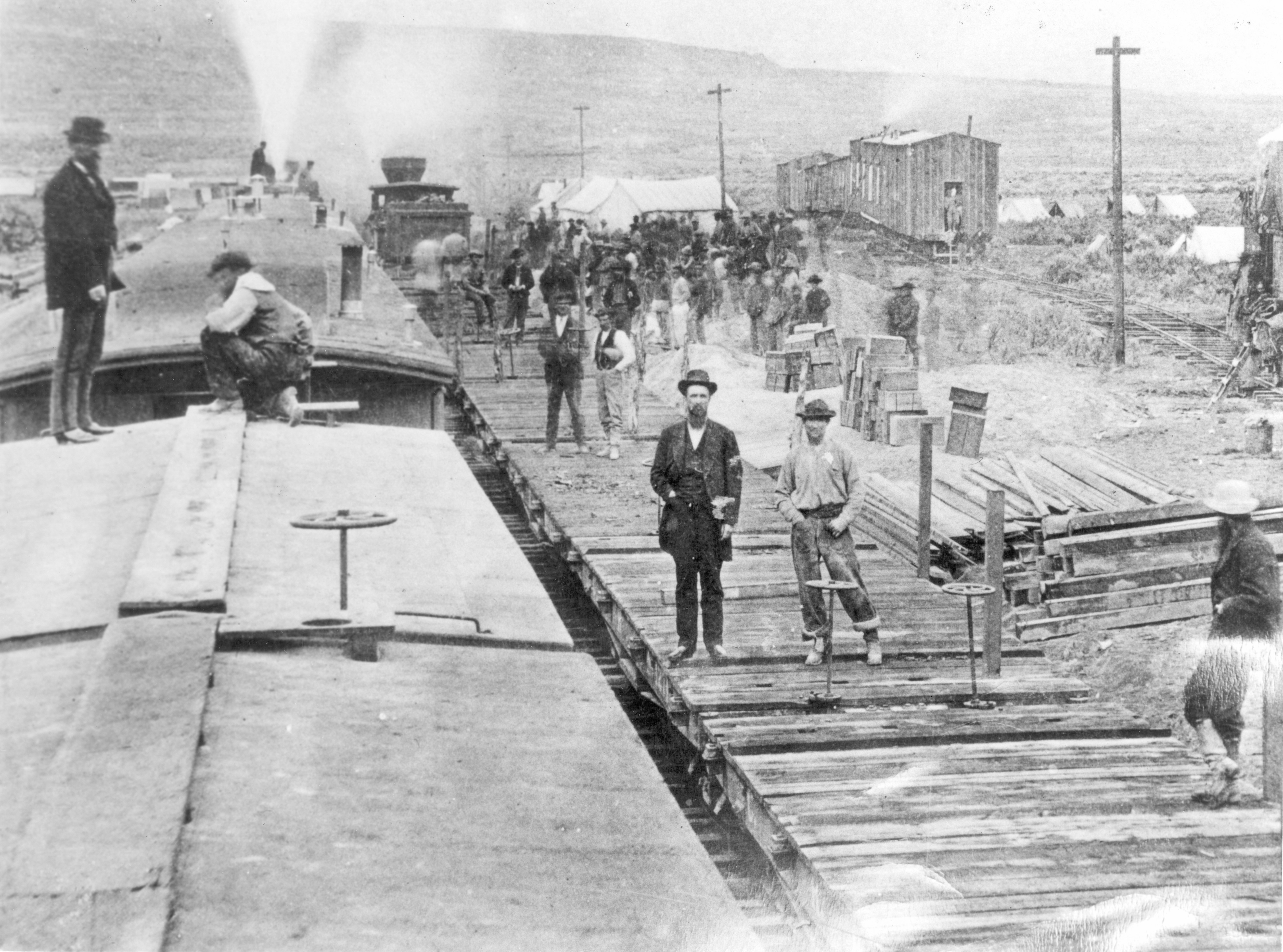 In 1869, Central Pacific Railroad oversaw construction at Victory Camp.