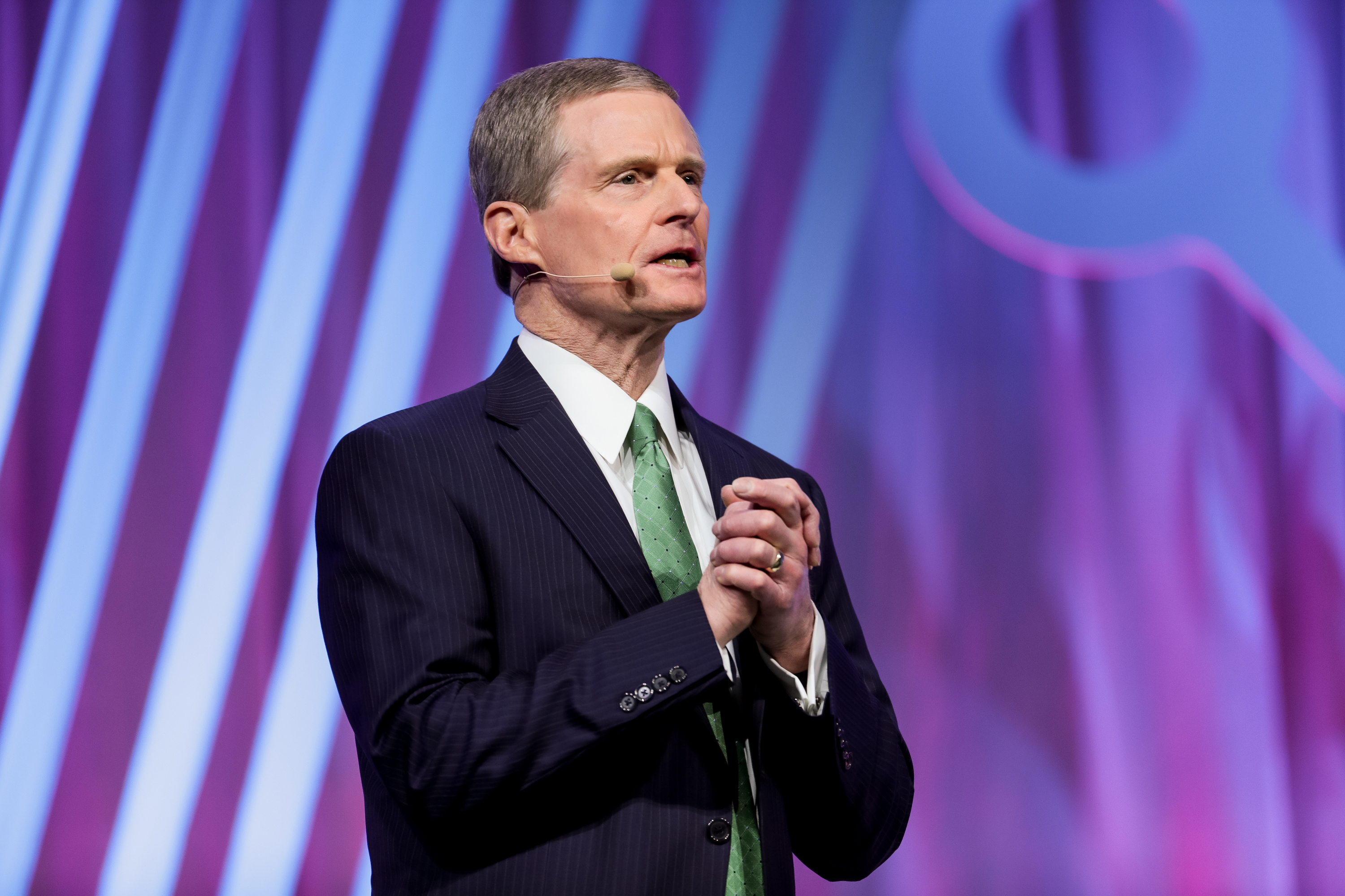 Elder David A. Bednar of the Quorum of the Twelve Apostles speaks during the RootsTech conference at the Salt Palace in Salt Lake City on Saturday, March 2, 2019.