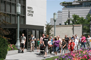 Several touring groups traveling through the American West include a stop at Temple Square.