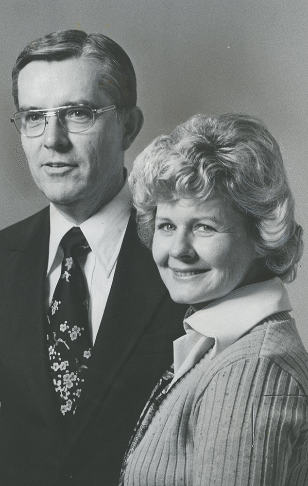 Elder M. Russell Ballard and Sister Barbara Bowen Ballard, when he was called in 1976 to serve in the First Quorum of the Seventy.