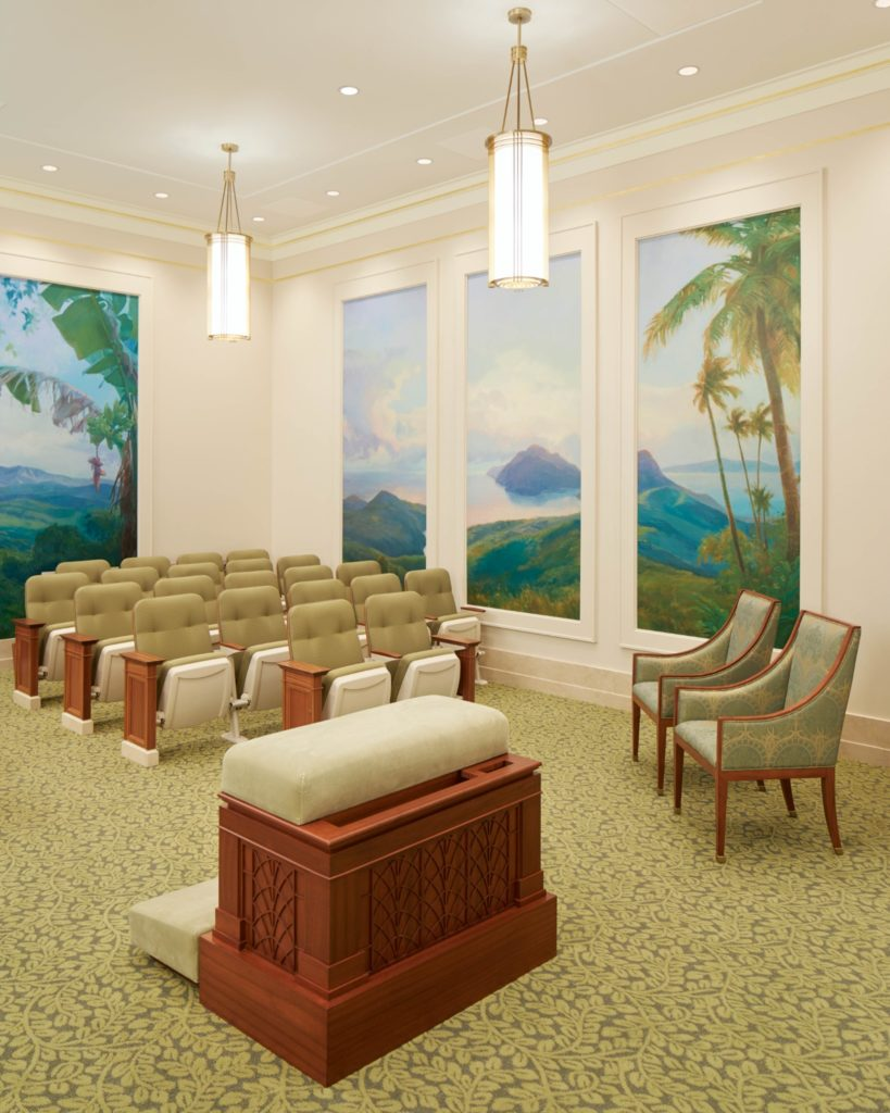 A photo of an instruction room in the Port-au-Prince Haiti Temple, which will be open to the public during an open house beginning Thursday, Aug. 8, through Saturday, Aug. 17, 2019.