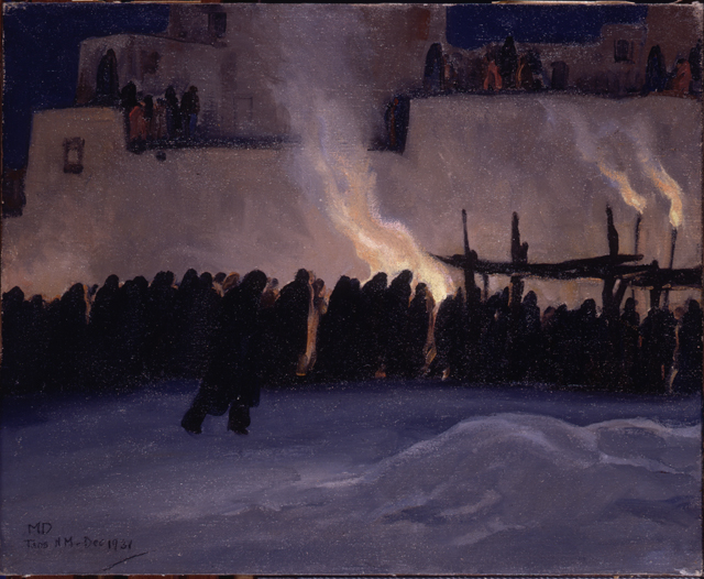"Maynard Dixon's oil ""Christmas Eve Procession"" is a reminder of the human impulse to connect with the divine, including traditional celebrations of Christ's birth."