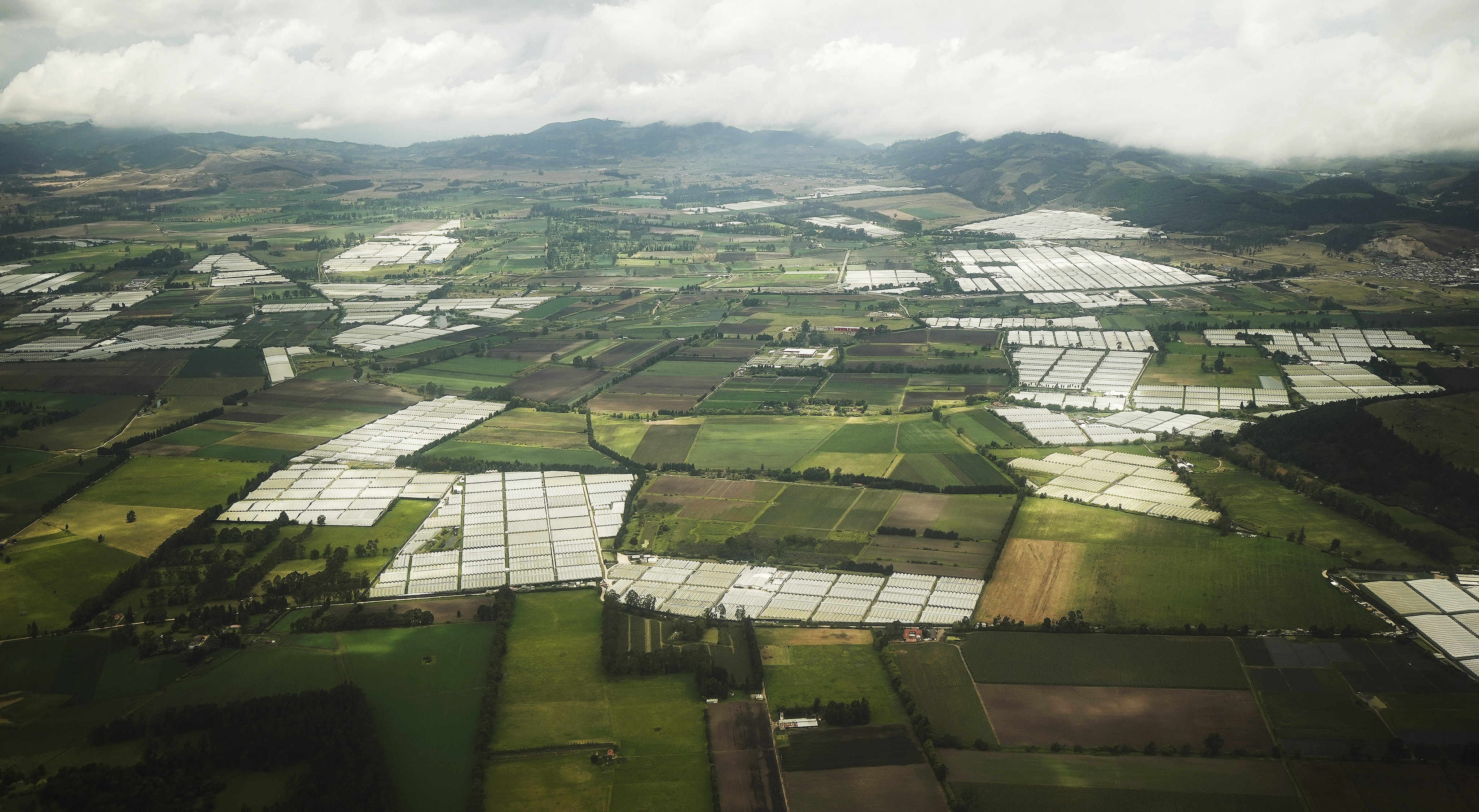 Numerous greenhouses line the horizon outside of Bogota, Colombia, on Sunday, Aug. 25, 2019. President Russell M. Nelson of The Church of Jesus Christ of Latter-day Saints spoke in a devotional in the city.