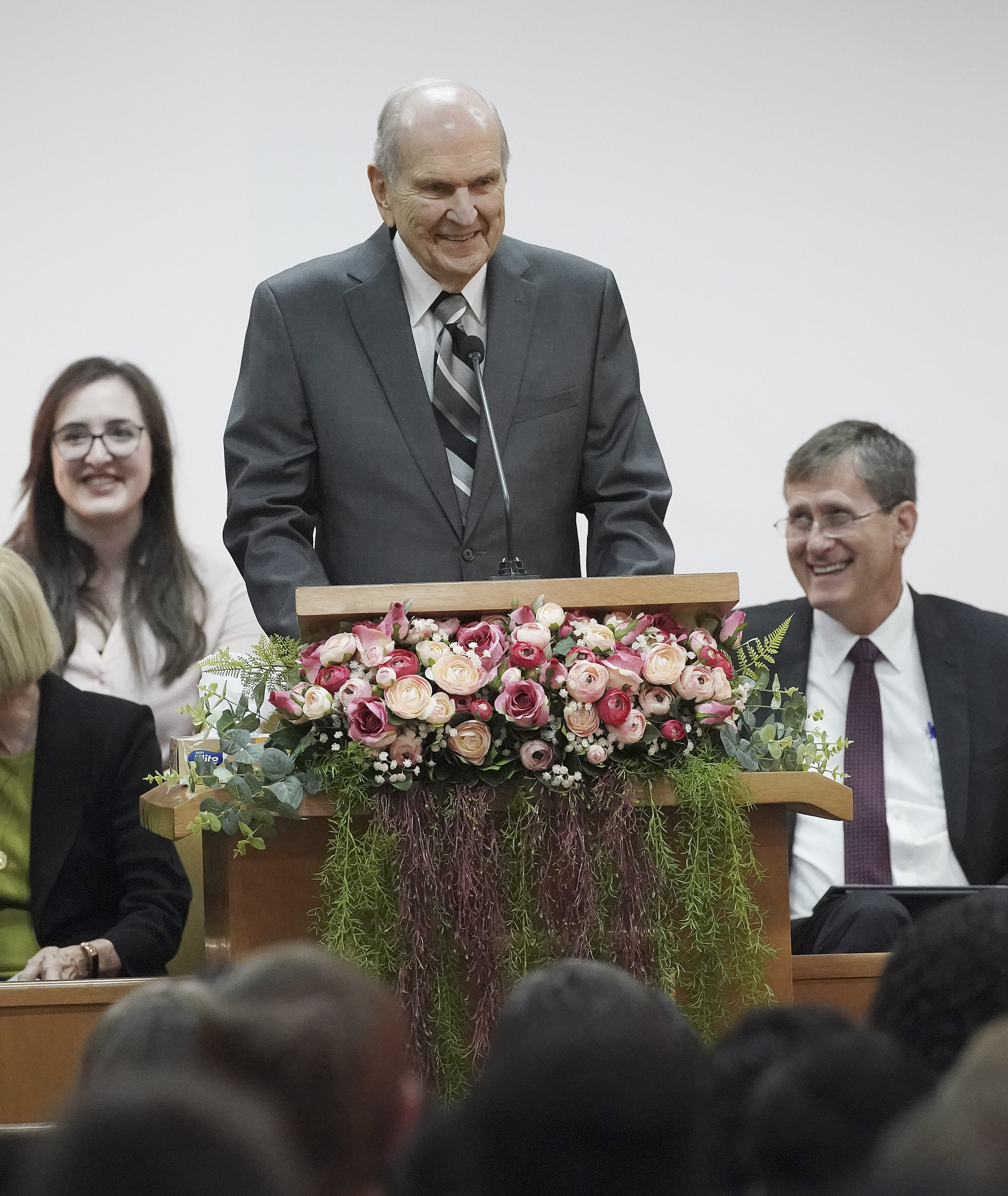 President Russell M. Nelson of The Church of Jesus Christ of Latter-day Saints speaks during a Brazil Brasilia Mission meeting in Brasilia, Brazil, on Friday, Aug. 30, 2019.