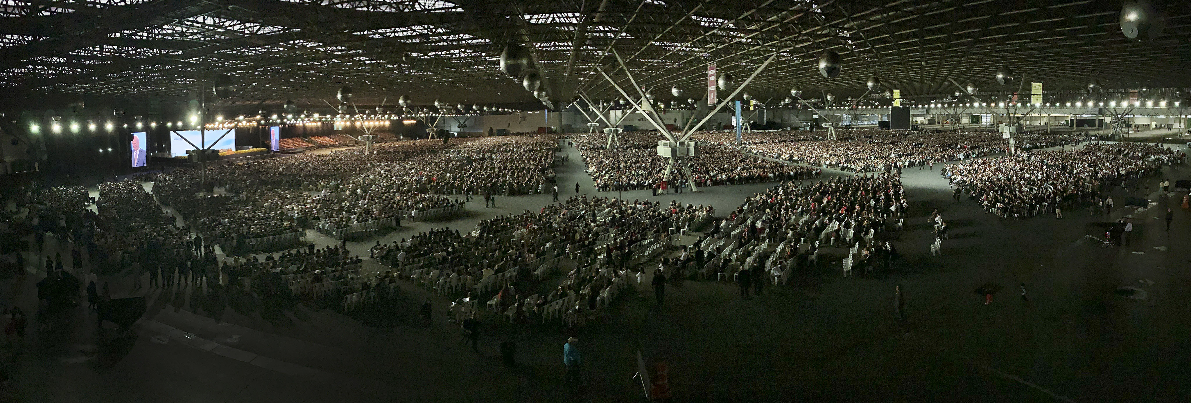 President Russell M. Nelson of The Church of Jesus Christ of Latter-day Saints speaks to 37,000 attendees during a devotional in Sao Paulo, Brazil, on Sunday, Sept. 1, 2019.