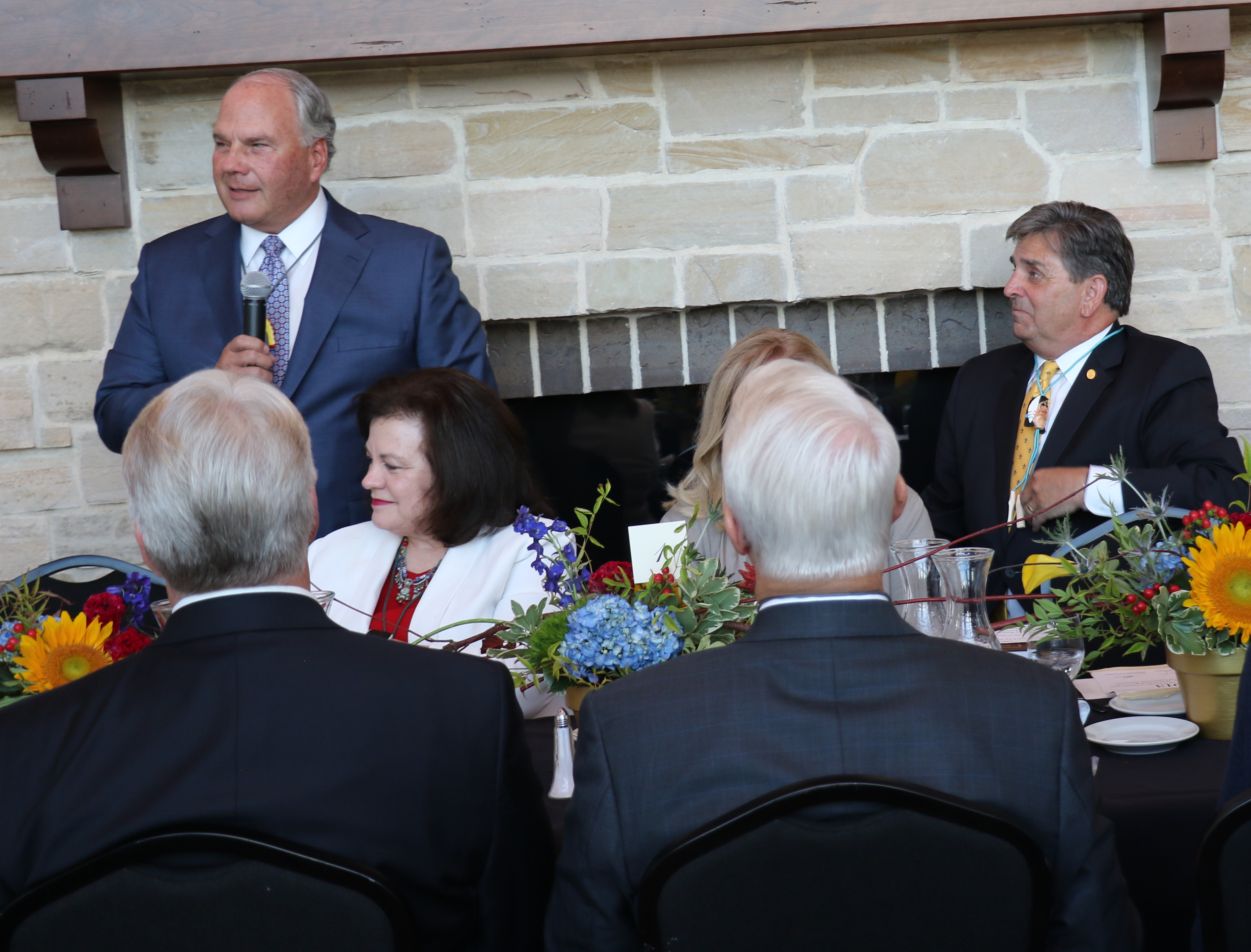 Elder Ronald A. Rasband speaks at a gala celebrating the 106-year relationship between the BSA and The Church of Jesus Christ of Latter-day Saints, in the Hale Center Theatre on Tuesday, Sept. 3, 2019.