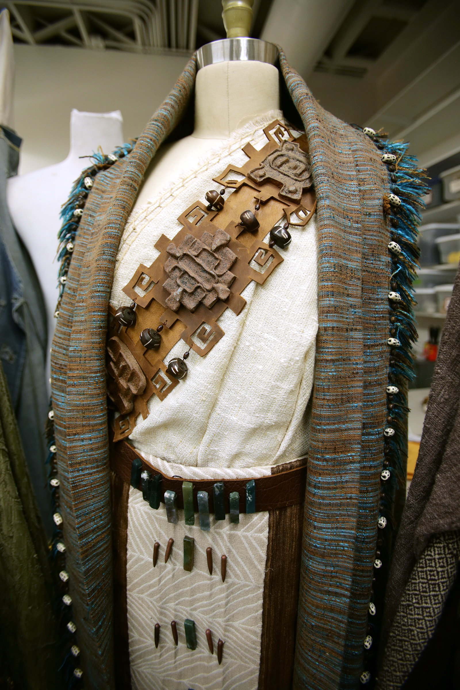 King Lamoni's costume sits on a mannequin inside the prop building as work on production of the Book of Mormon videos continues in Provo, Utah, at the Motion Picture Studio on Tuesday, Sept. 3, 2019.