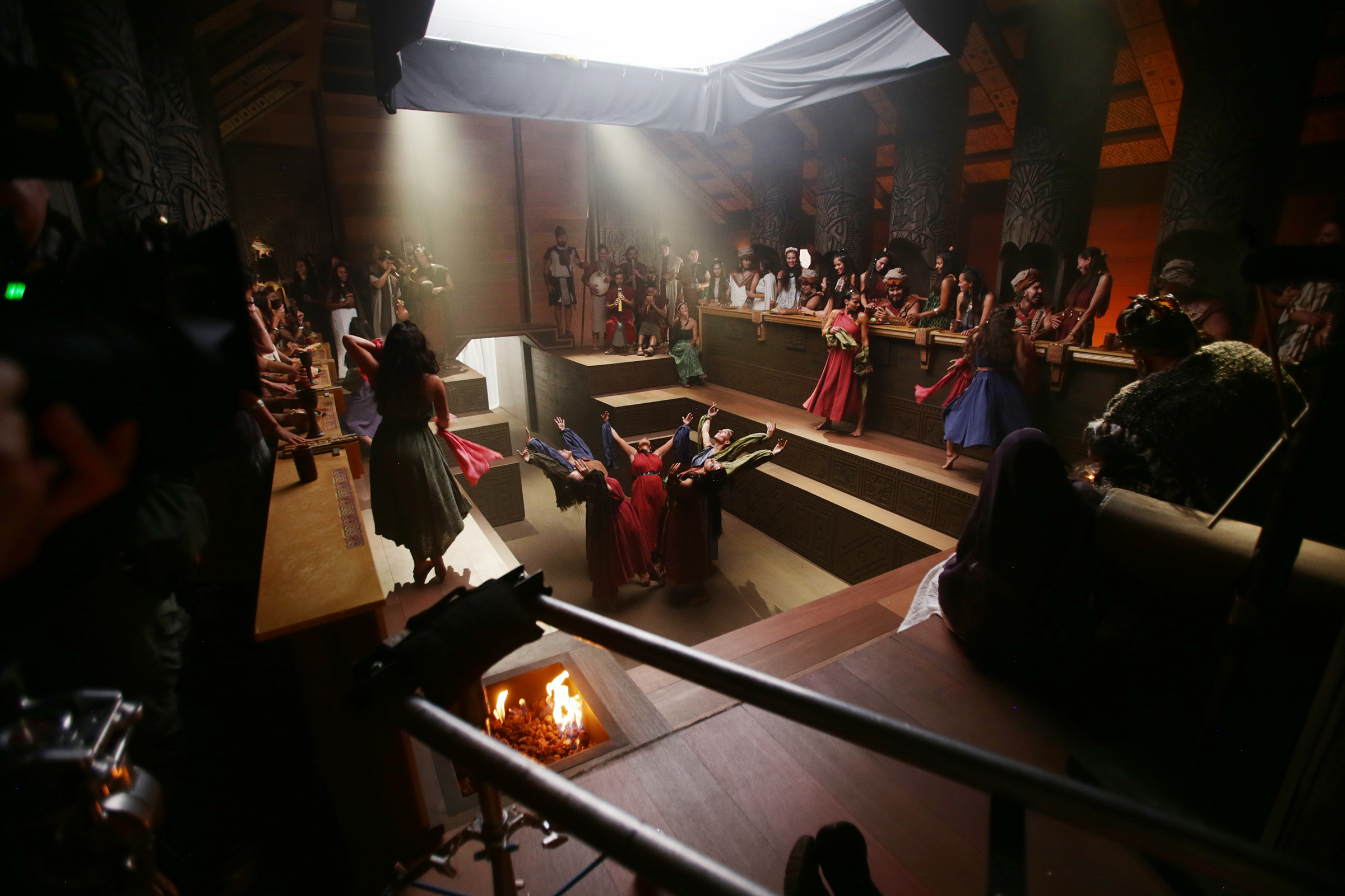 King Noah's court is portrayed for filming as work on production of the Book of Mormon videos series continues in Provo, Utah, at the Motion Picture Studio on Tuesday, Sept. 3, 2019.