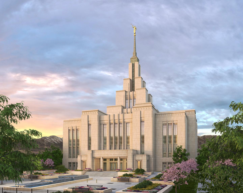 Rendering of the Saratoga Springs Utah Temple