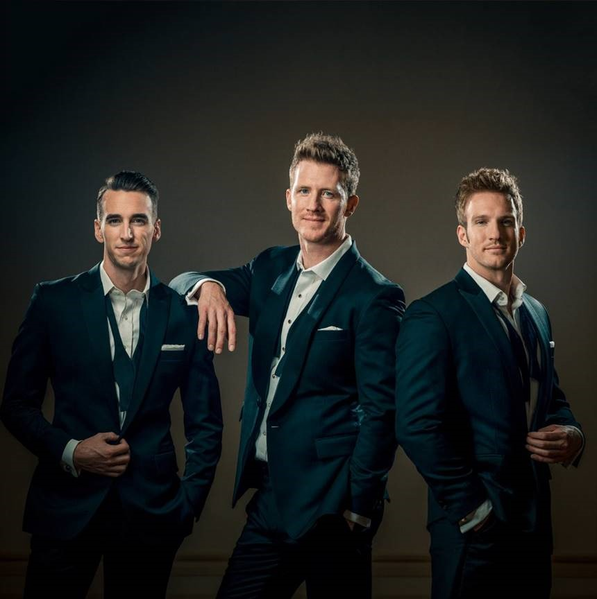 GENTRI, The Gentlemen Trio, comprises three tenors: Brad Robins, Casey Elliott and Bradley Quinn Lever. GENTRI will perform during President Nelson's birthday celebration on Sept. 6, 2019.