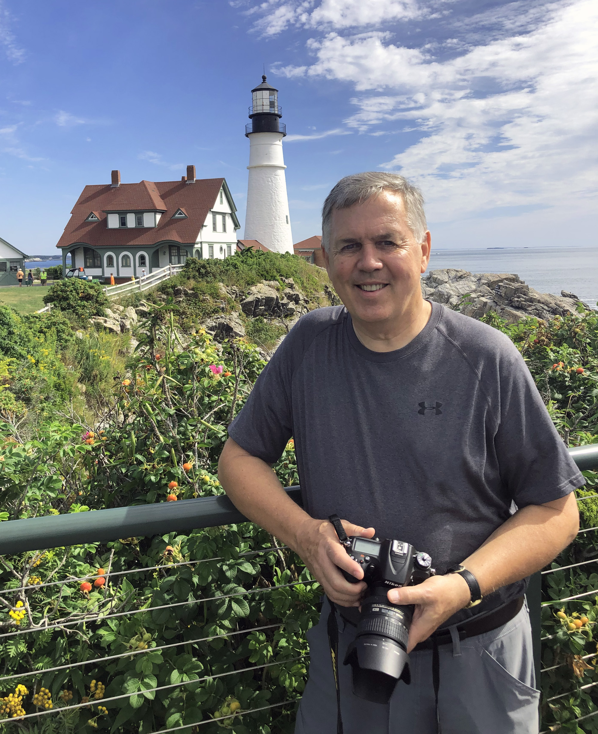 Kenneth Mays with his camera in Maine.
