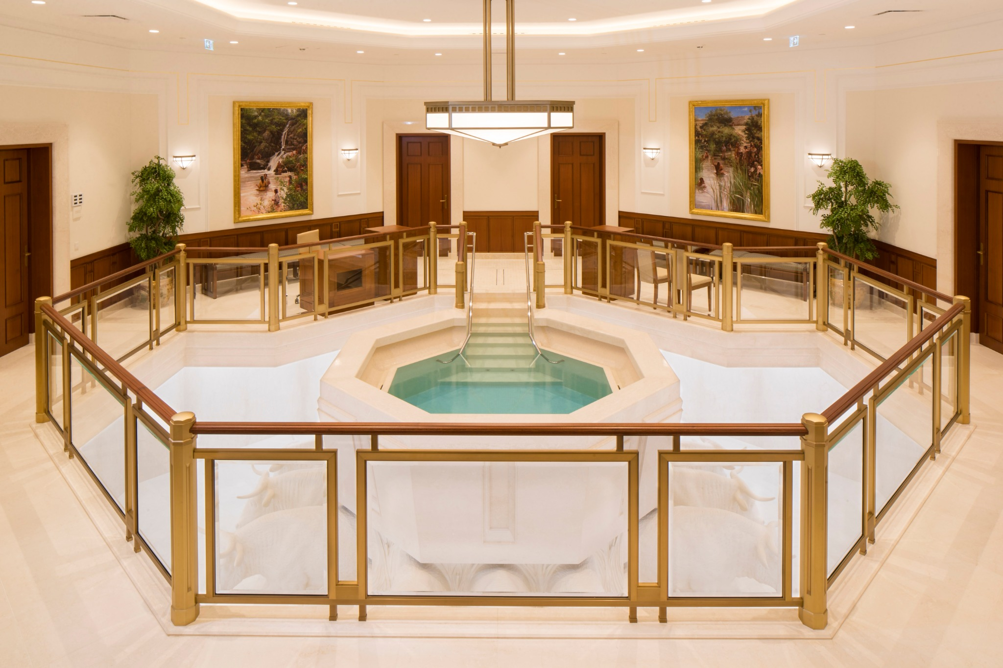 The baptistry in the Frankfurt Germany Temple.