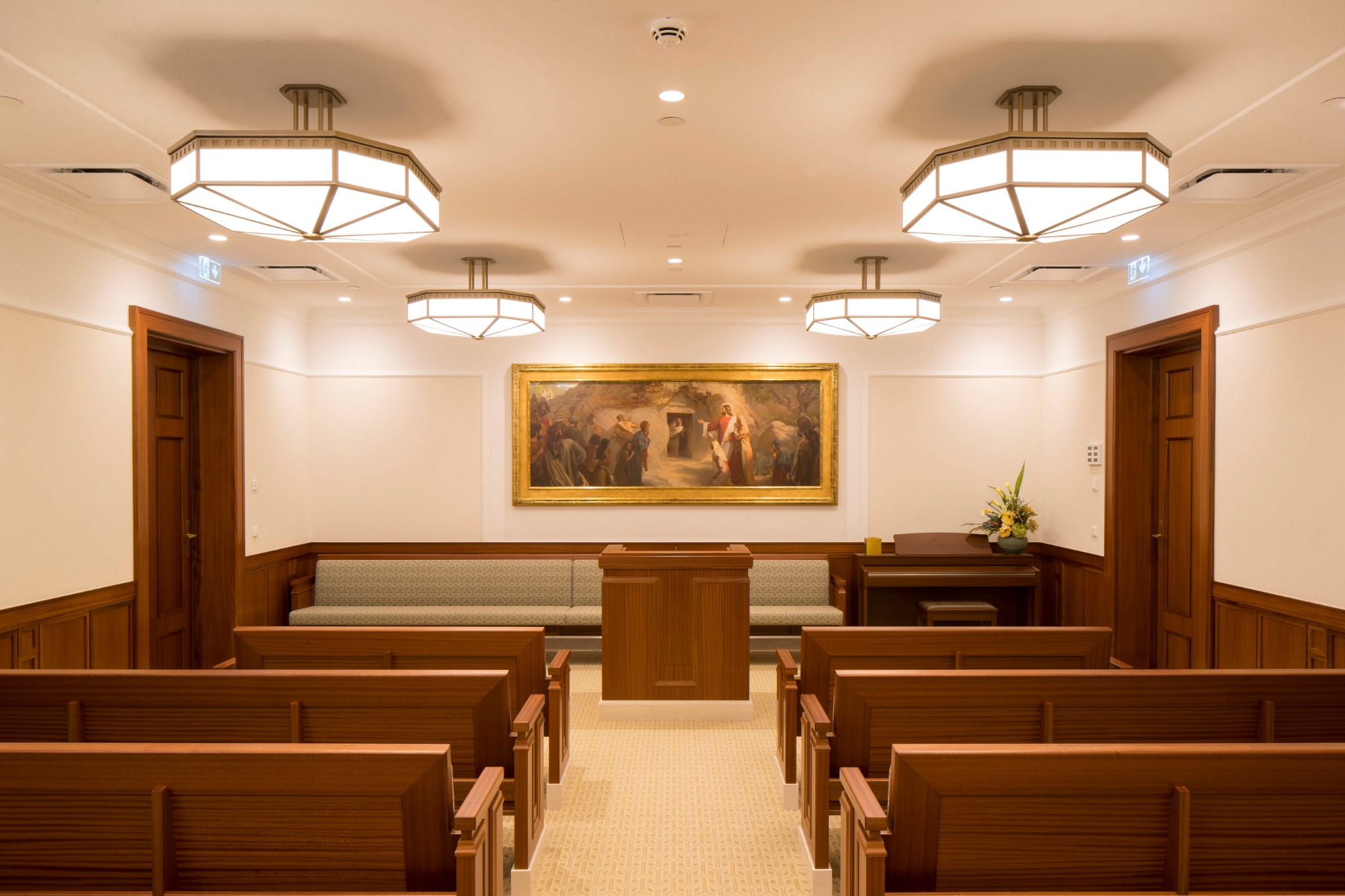 A chapel in the Frankfurt Germany Temple.