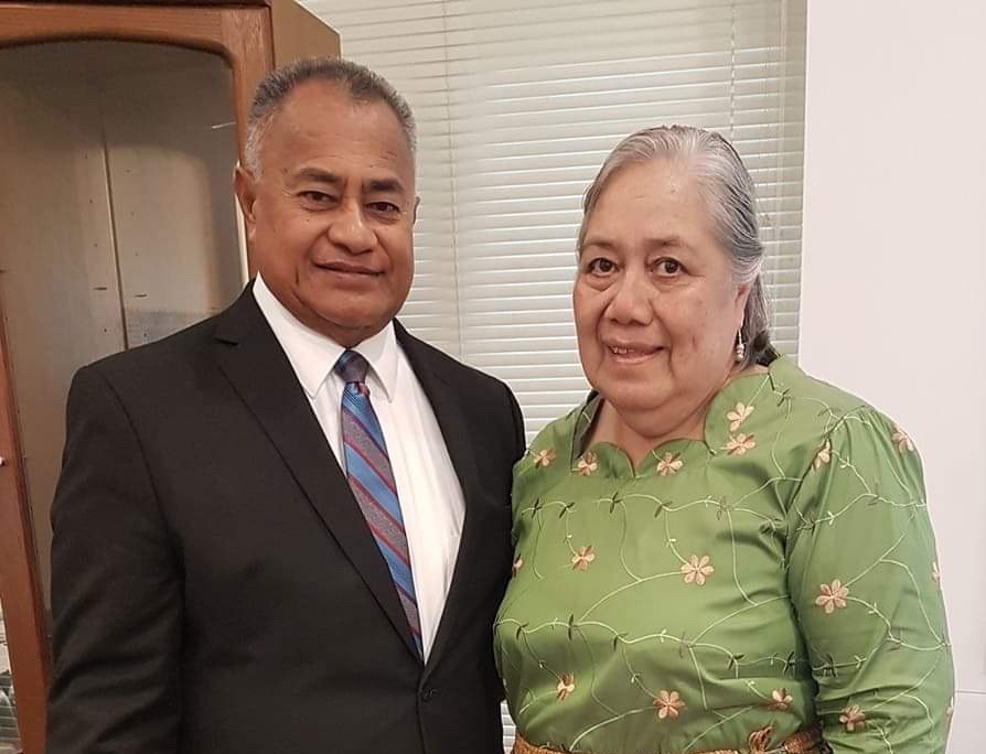 President Taniela A. Langi and Sister 'Anaseini V. Langi.