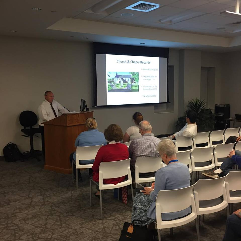 Darris Williams teaches about Welsh research during the 2017 British Isles Research Seminar. The 2019 British Isles Research Seminar will be held Sept. 23-27.