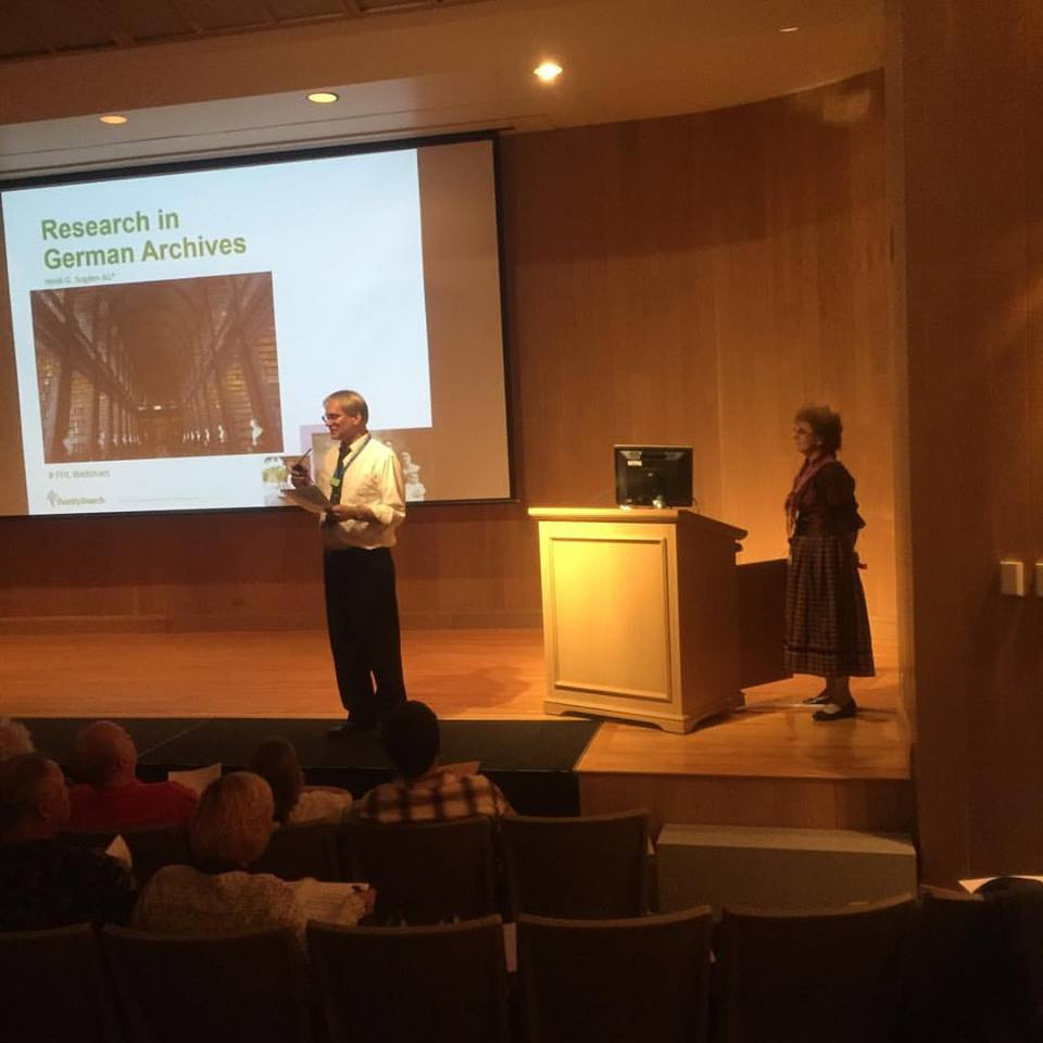Fritz Juengling and Heidi Sugden teach about research in German Archives on Sept. 12, 2016 at the 2016 European Research Seminar. The seminar was held from Sept. 12-16, 2016.